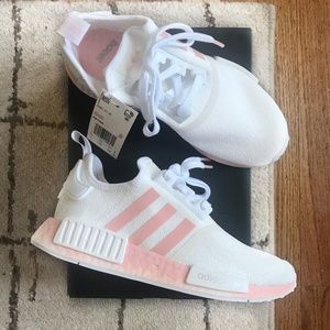 Adidas NMD R1, White/Vapour Pink, Women's Size 7